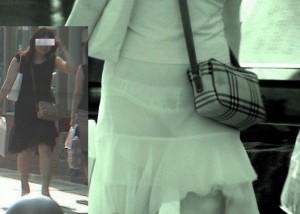 (赤外線えろ写真)普及したら大変ですなww女の服がほぼ透ける赤外線カメラで街撮り(*´Д`)
