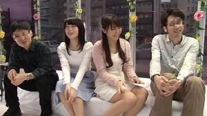 (MM号えろムービー)Wデート中の大学生カップルに同室スワッピングをお願い☆初の経験に胸高鳴ってる模様ww