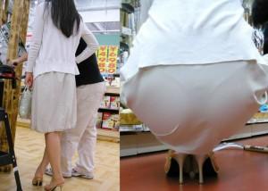 (透け下着えろ写真)ズボンでも下着がわかる☆お尻に浮いたセックスなライン(*´Д`)
