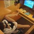 【ネットカフェエロ画像】ネットカフェの個室でこんな事しているバカップル!
