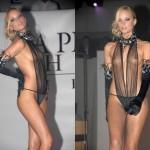 【ファッションショーエロ画像】まるでストリップ!おっぱい丸見えファッションショーw