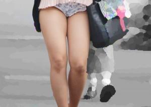 (街撮り美足えろ写真)夏萬才☆街に行けばオネエさんの清楚な生脚が見放題(*´д`*)