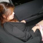 【車内オナニーエロ画像】快感を貪るためなら女はここまでする!?車内オナニー!