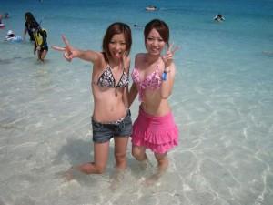 (シロウトミズ着えろ写真)夏のビーチやプールがガチで恋しくなるシロウト小娘たちのミズ着写真