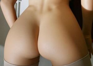 (美尻えろ写真)側に置いて撫で回し続けたい☆丸くて素敵な超最高美尻(*´Д`)