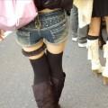 【街撮りホットパンツエロ画像】街中のホットパンツの素人娘ってめっちゃ抜けるw