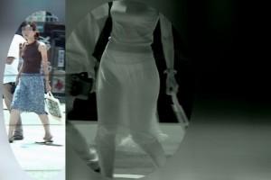 【赤外線盗撮エロ画像】赤外線を通して写せば着衣なんぞ無意味な件www