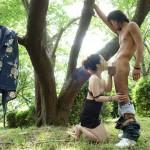 【野外フェラチオエロ画像】人目を忍んで野外でコッソリしてもらうフェラチオが最高な件。