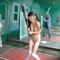 【全裸スポーツエロ画像】裸でスポーツする女の子ってめっちゃエロいな!勃起不可避!