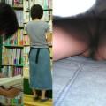 【パンチラ逆さ撮りエロ画像】見事な角度!パンチラ撮るのにこれよりすごい角度ってあるの?