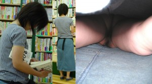 (パンツ丸見え逆さ撮りえろ写真)見事な角度☆パンツ丸見え撮るのにこれよりすごい角度ってあるの?