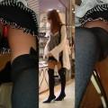 【パンチラ逆さ撮りエロ画像】真下から女の子の股間を狙ってみた結果がこちら!