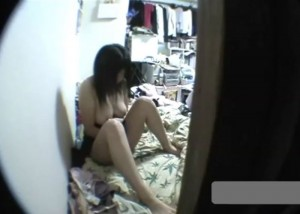 (えろムービー)喜ばしく成長した美巨乳イモウトの裸おなにーを秘密撮影☆(*゚∀゚)=3