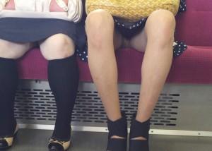 (パンツ丸見ええろ写真)終点までお願いしますww列車内のチラ見せさんは癒し(;^ω^)