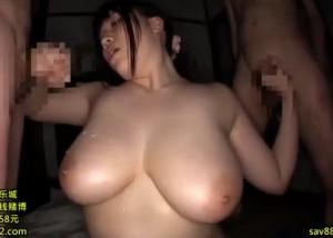 【エロ動画】複数の男達にメチャクチャにヤられている巨乳お姉さん!(;゚∀゚)=3