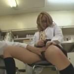【エロ動画】白衣を着たギャルJKと実験という名の濃厚セックス!(;゚∀゚)=3