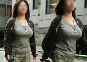 【着胸エロ画像】脱衣姿も見てみたくなるたわわな街角おっぱい見守り(;・∀・)